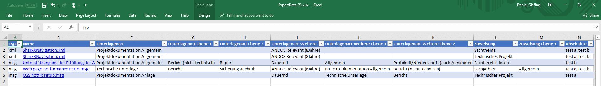 SharePoint erweiterter Excel Export