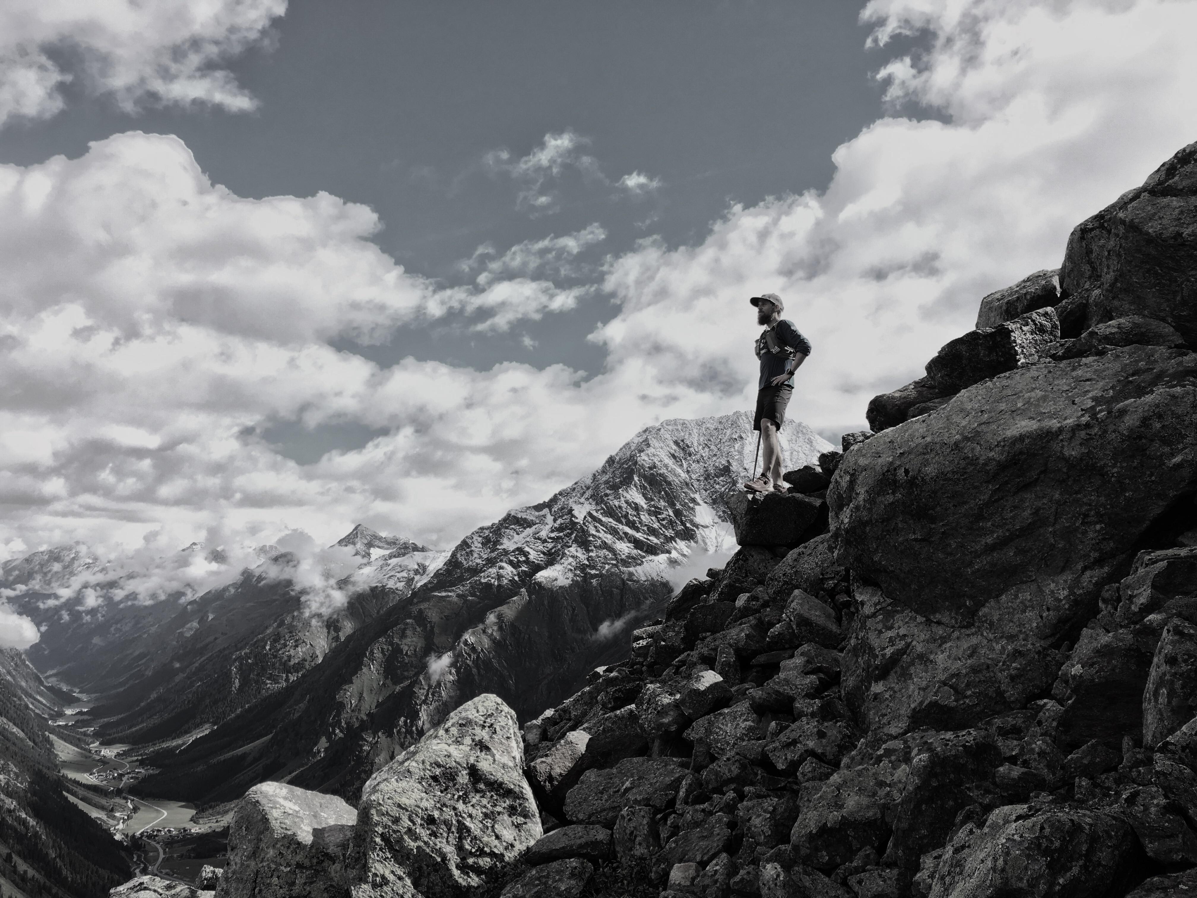 Florian Grasel beim Trailrunning im Pitztal