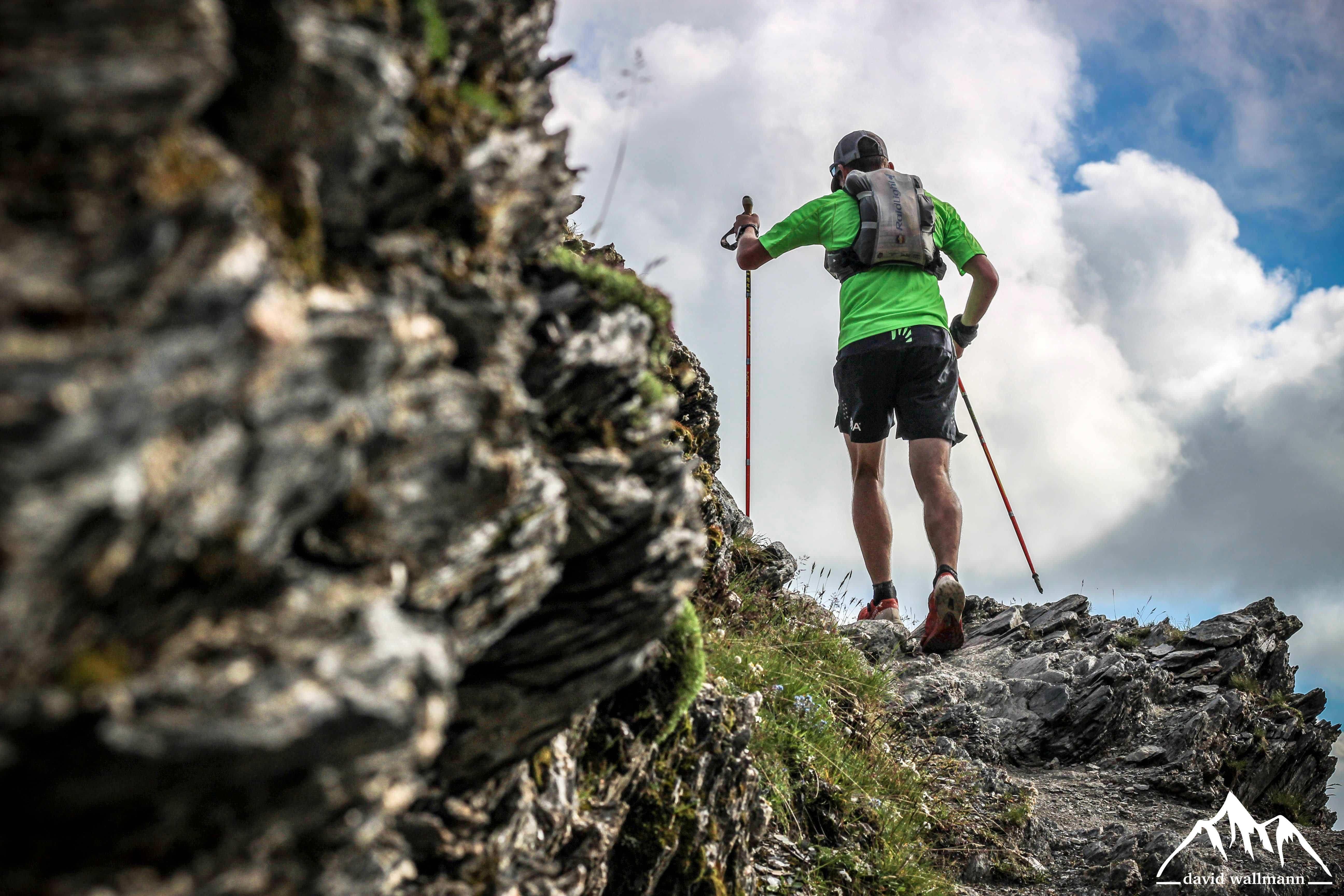 Florian Grasel beim Trailrunning rund um den Mont Blanc