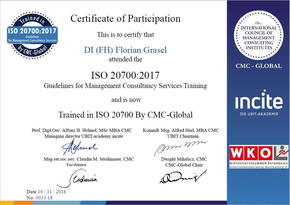 SharePoint ISO 20700 Zertifizierung