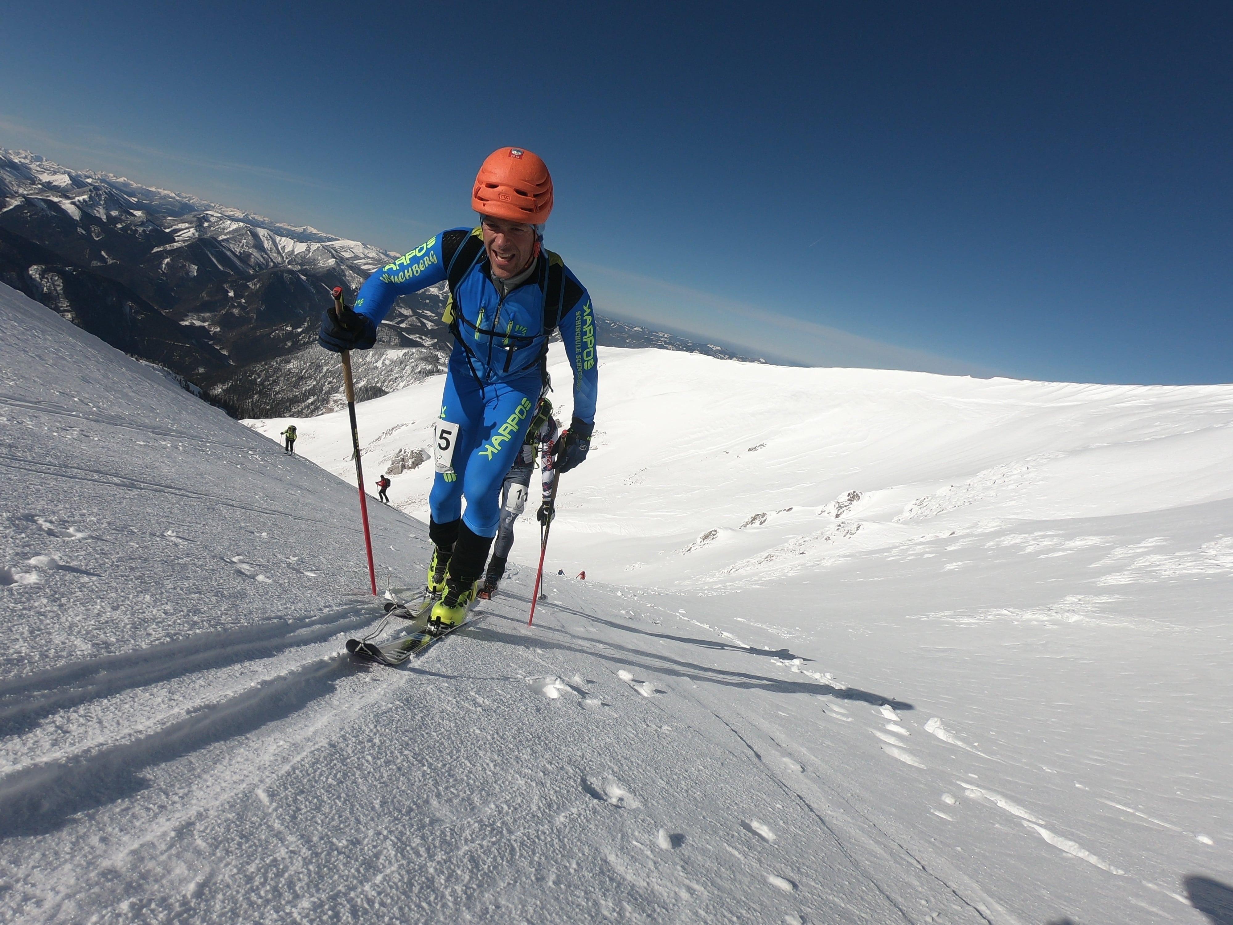 Peter Groß beim Schneeberg Schitouren Rennen