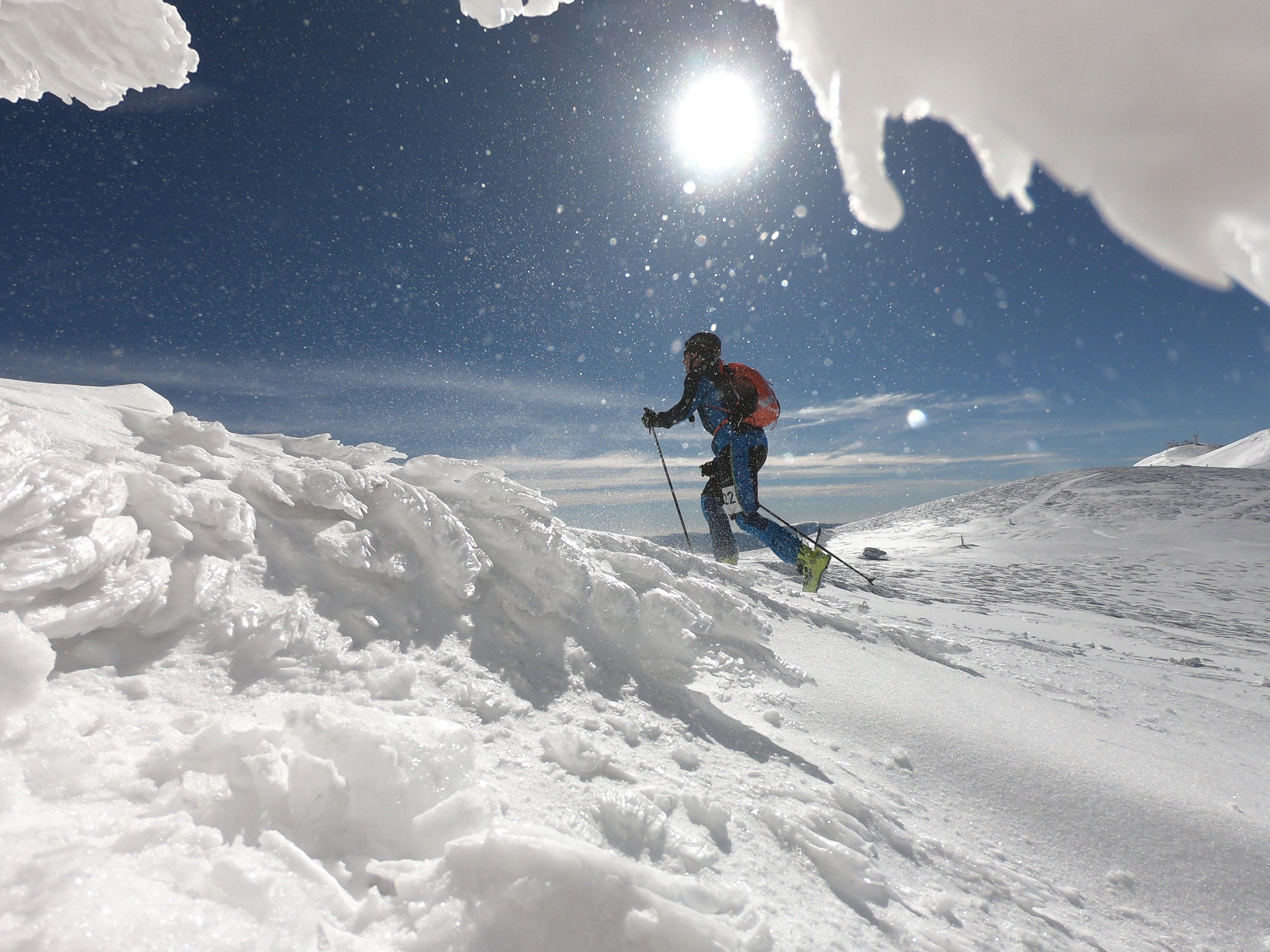 Schitouren Rennen am Schneeberg kurz vor Fischerhütte