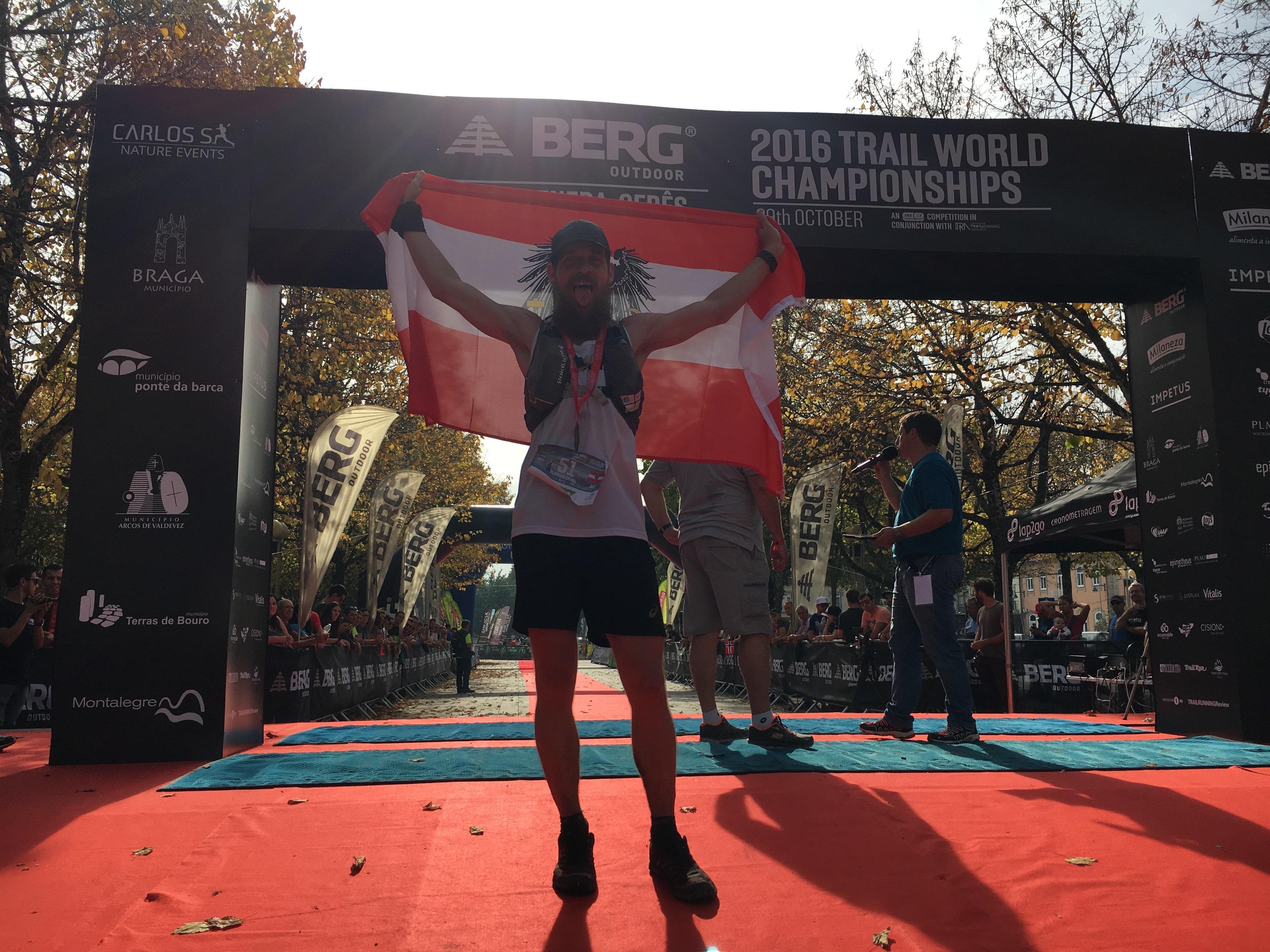 Florian Grasel bei der Teilnahme für Österreich bei der Trailrunning Weltmeisterschaft