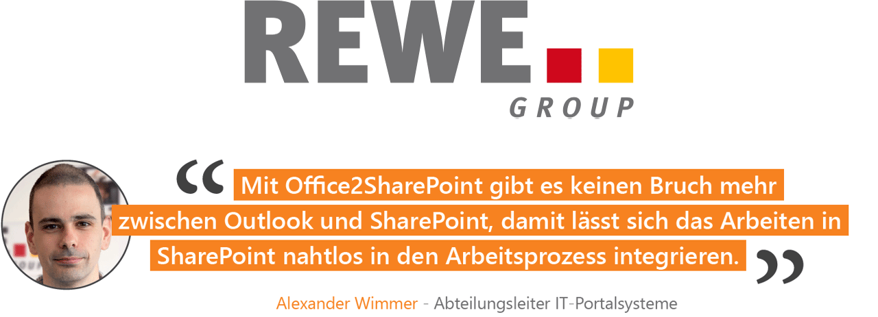 REWE Office 2 SharePoint Kundenreferenz