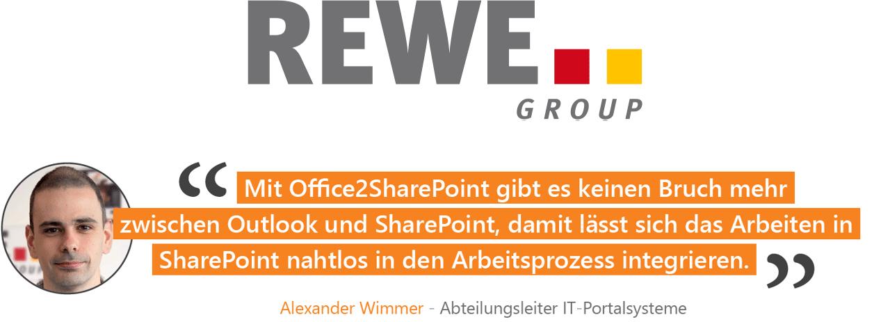 REWE Office 2 SharePoint Kundenreferenz