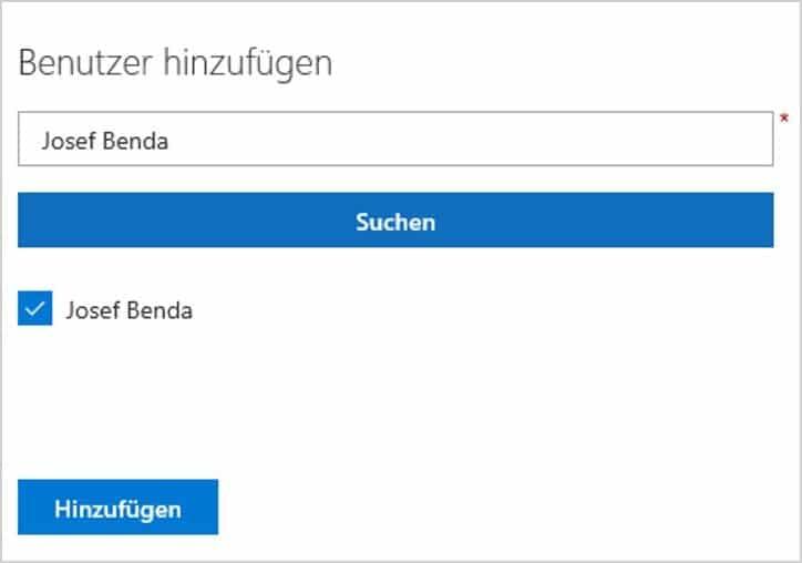 Benutzer in SharePoint Gruppe hinzufügen