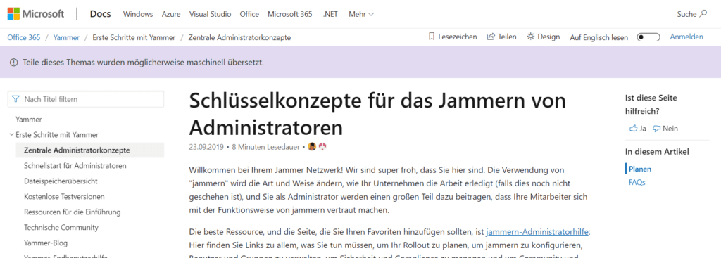 Yammer Administrator