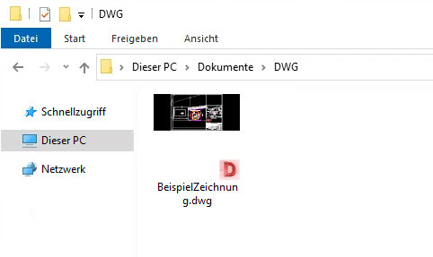 DWG Thumbnail in SharePoint - DWG Thumbnail in Windows Explorer
