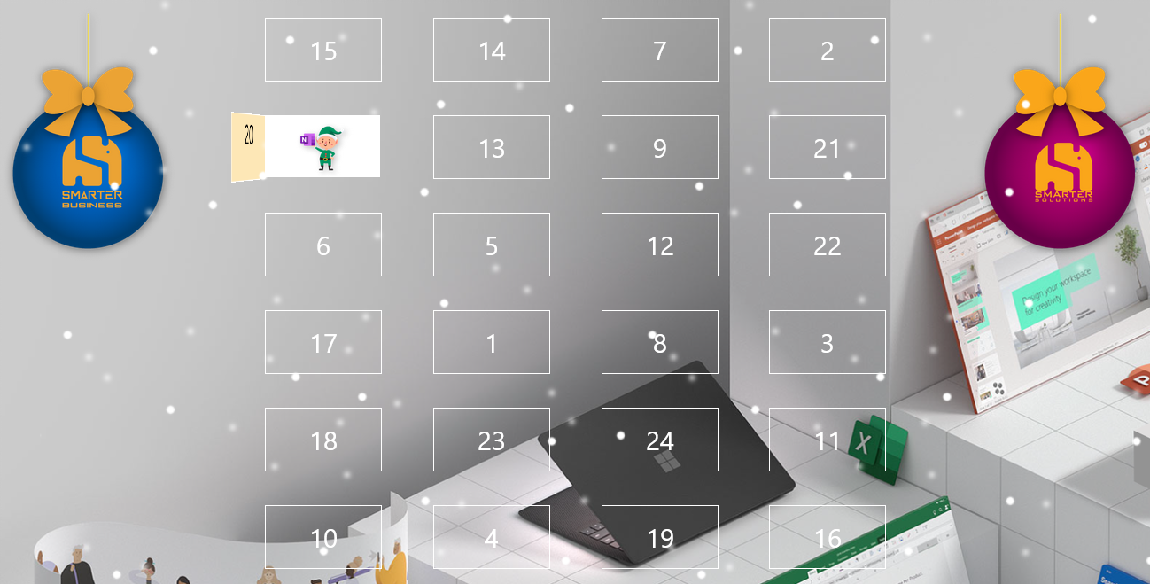 Advent calendar for employees
