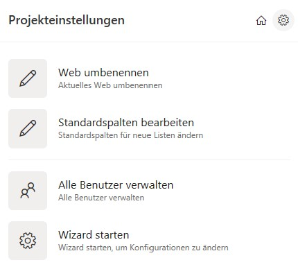 SharePoint Projektmanagement: Konfigurationsassistent starten