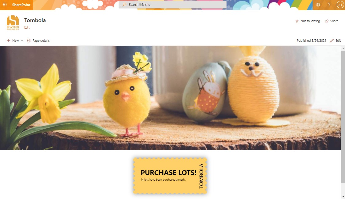 Hold an Easter raffle in SharePoint