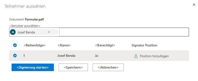 SharePoint Digitale Unterschrift: Workflow starten