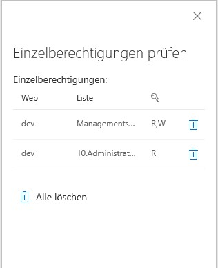 SharePoint Benutzerverwaltung: Einzelberechtigungen