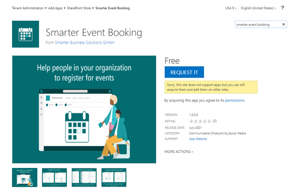 Apps aus dem SharePoint Store anfordern