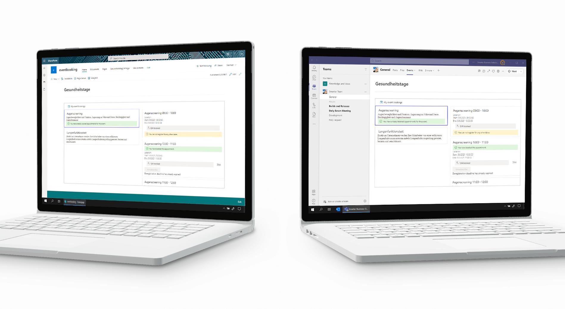 Veranstaltungs-Buchungen in Microsoft Teams