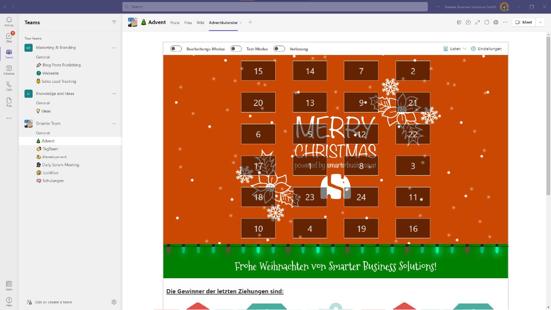 Smarter Adventkalender - Freude für dein Unternehmen in Teams