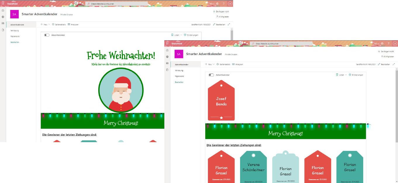 Smarter Adventkalender - Start der Verlosung und Ziehung der Gewinner