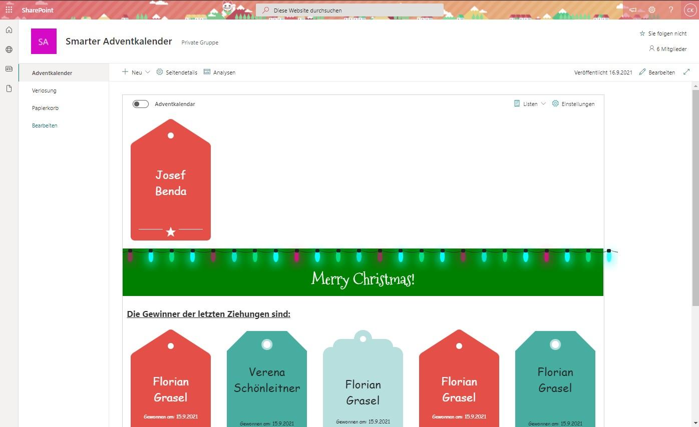 Smarter Adventkalender - Ziehung der Gewinner