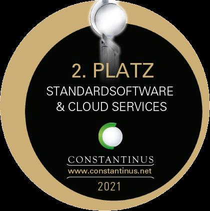 TagTeam erhielt den 2. Platz für den Constantinus Award 2021 in der Kategorie Standardsoftware & Cloud Services
